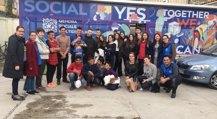 Vizitë në qendrën Sociale Multidisiplinare,Bashkia Tiranë