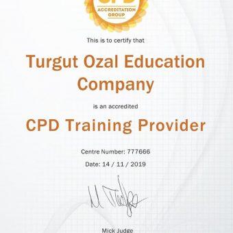 Zhvillimi i vazhdueshëm profesional (CPD) në Turgut Ozal Education