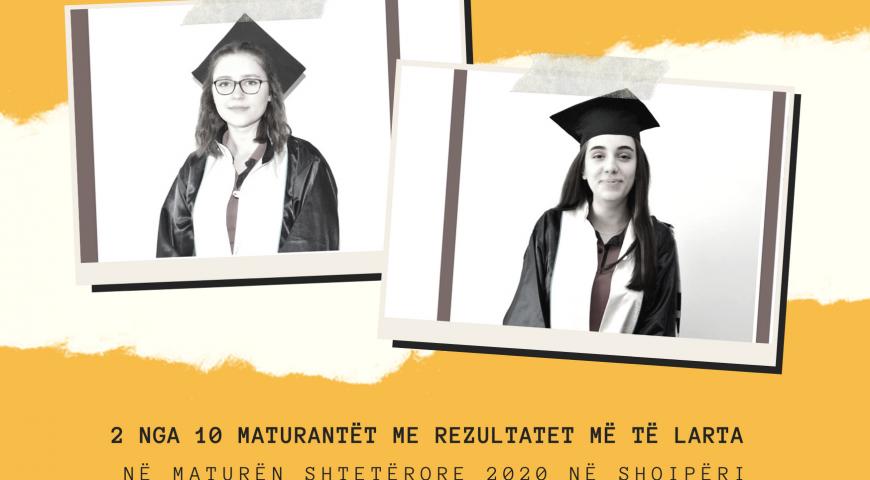 2 nga 10 Maturantët me rezultatet më të larta në Maturën Shtetërore 2020 në Shqipëri