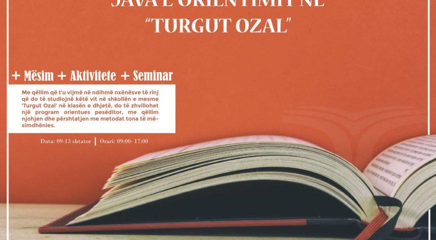 """Java e Orientimit Në """"Turgut Ozal"""""""